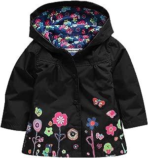Wennikids Baby Girl Kid Waterproof Floral Hooded Coat Jacket Outwear Raincoat Hoodies