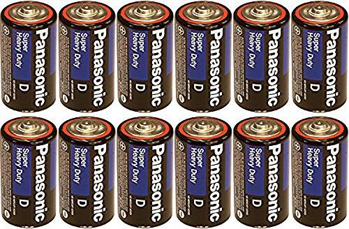 Panasonic Heavy Duty D Batteries X 12