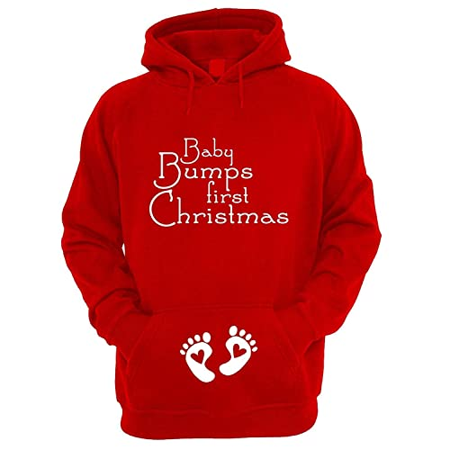 1a854aa0e34e3 Beyondsome Women's Festive Maternity 'Baby Bumps First Christmas' Hoodie