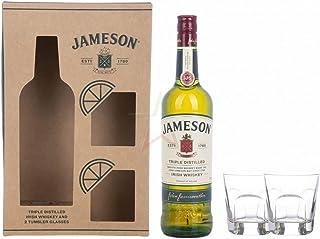 Jameson Triple Distilled Irish Whiskey mit 2 Gläsern 40,00% 0,70 lt.