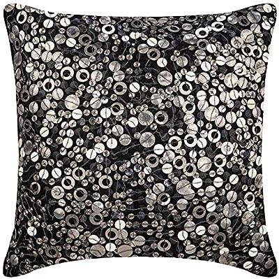 Amazon.com: Hecho a mano almohada fundas de almohada, gris ...