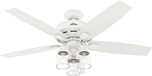 new arrival Hunter Fan online sale Company 50281 Bennett Ceiling Fan, 52, Matte online White Finish sale