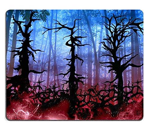 luxlady Gaming Mousepad Bild-ID: 30192209Dunkle Halloween-Woods Hintergrund mit Twisted Bäume Illustration