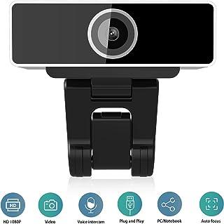 Jaybest Webcam 1080P Full HD con Micrófono Estéreo, Webcam Portátil para PC USB Camera para Video Chat y Grabación, Gaming, Pequeña, Compatible con Windows, Android, Linux (Negro)