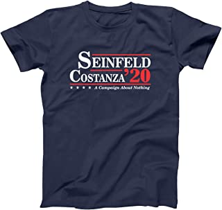 Donkey Tees Seinfeld and Costanza for President 2020 Funny Election Mens Shirt