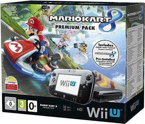 Nintendo Wii U Premium Pack schwarz, 32GB inkl. Mario Kart 8 (vorinstalliert)