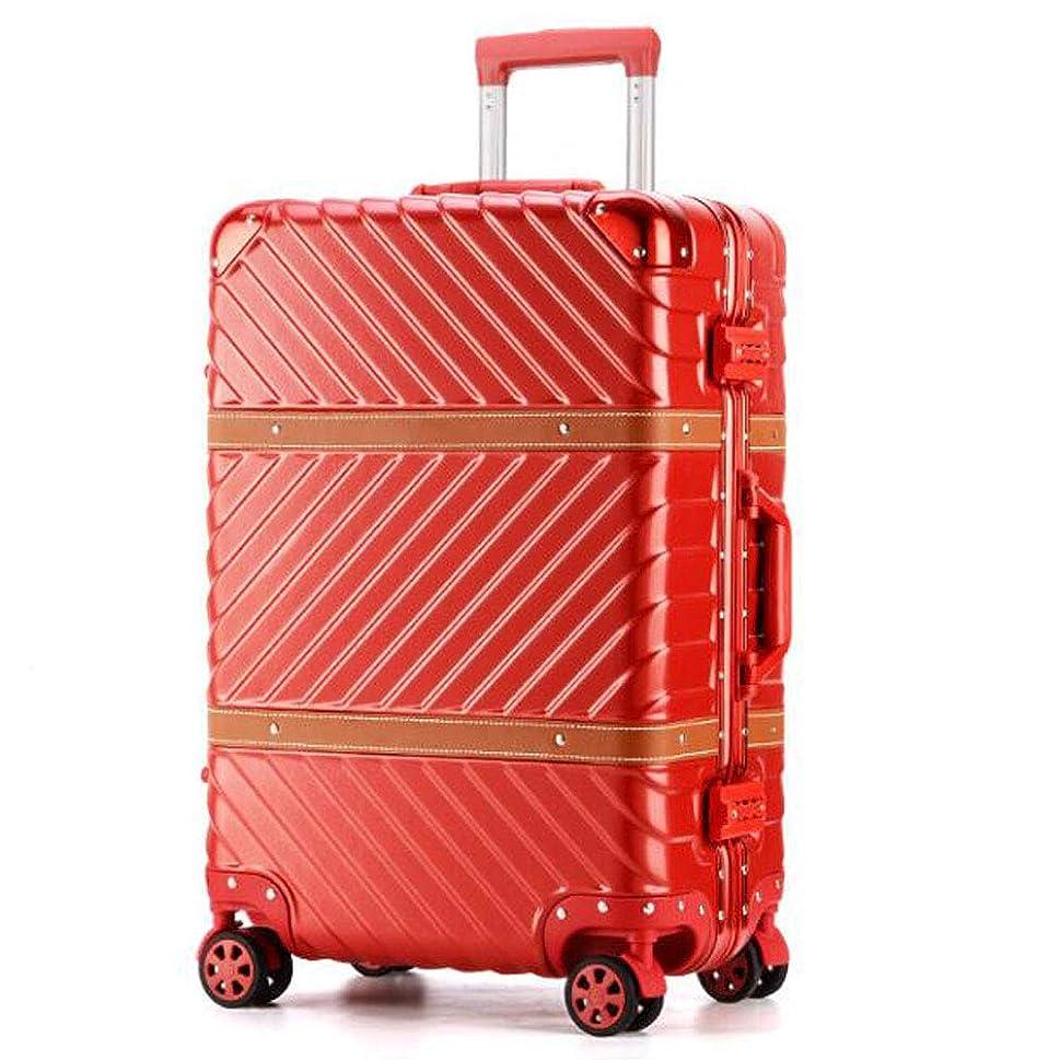 機械的哲学博士武器SAHASAHA 旅行用 スーツケース キャリーケース TSAロック 半鏡面仕上げ アライン加工 アルミフレーム レトロ 旅行 出張 軽量 静音 ファスナーレス