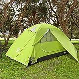 Bessport Tente Camping 1 Personne, Ultra Légère Tente Dôme Deux Portes, Facile à...