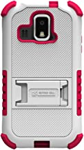 Beyond Cell Tri-Shield Durable Hybrid Hard Shell and Silicone Case for Kyocera Hydro XTRM C6721 - White/Hot Pink - Retail Packaging - White/Hot Pink