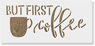 But First Coffee Stencil Template for Walls and Crafts - Reusable Stencils for Painting in Small & Large Sizes