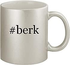 #berk - Ceramic Hashtag 11oz Silver Coffee Mug, Silver