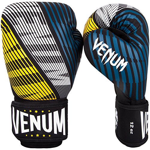 Venum Plasma Boxhandschuhe, Schwarz/Gelb, 16oz
