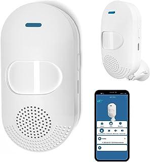 Alarma con sensor de movimiento PIR inalámbrica: alarma WiFi detector de movimiento con sirena de 100 dB, control de aplic...