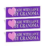 wunderlabel hecho con amor por la abuela tejida etiqueta ropa tela de costura...