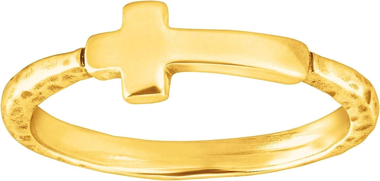 Silpada 'Simplex Cross' Horizontal National Tulsa Mall products Cross Sterli in Ring Textured