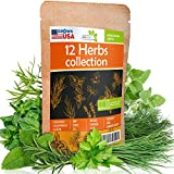 12 Culinary Herb Seeds Pack - Heirloom and Non GMO, Grown in USA -...