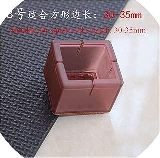 Minyu 8pcs Square Silicone Chair Leg Covers Socks Non Slip Table Leg Feet Pads Base Floor Protectors Pipe Hole Plug Furniture Parts,8
