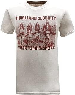 Homeland Security Fighting Terrorism Native American Indian Men's T-Shirt