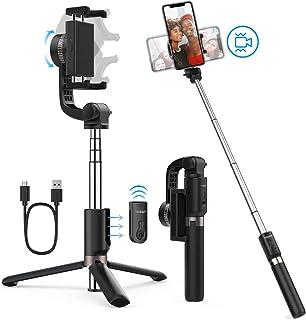 Yoozon Eje estabilizador trípode de teléfono Palo Selfie antivibración 360° Gimbal rotable stabilizer Compatible con iPhone/Samsung/Huawei y más portátil estabilizador de Imagen Video de Calidad