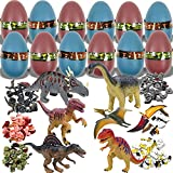 Liberty Imports 12 Pack - 3D Dinosaur Puzzle in Jurassic Egg Educational Assembly Kit - Ideal Kids Dino Figure Party Favors Bulk Supplies