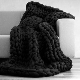 LICHUXIN Couverture tricotée faite à la main pour canapé, animal domestique, décoration de chambre à coucher (couleur : no...