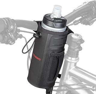 自転車 ステムバッグ ドリンクホルダー 自転車用ハンドルポーチ ボトル入れ 保冷 保温 収納便利 ブラック