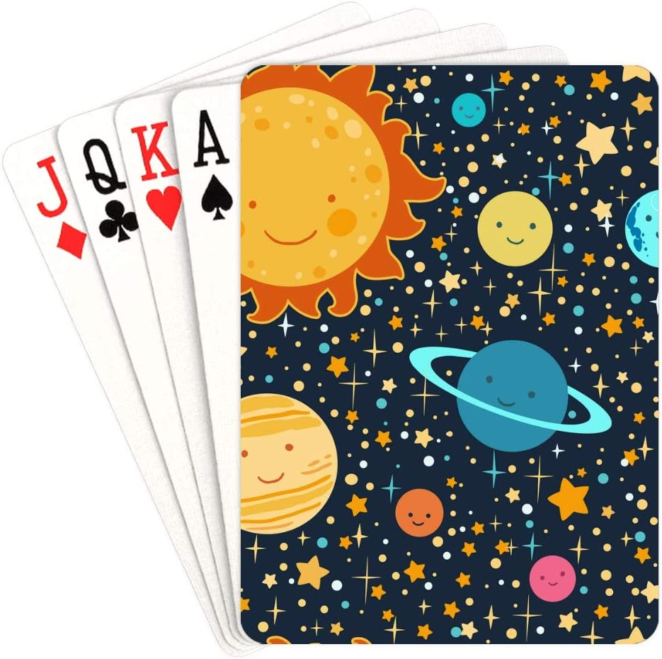 WUTMVING Los Angeles Mall Men Playing Cards Set of Japan's largest assortment On Pl Stars Faces with Planets