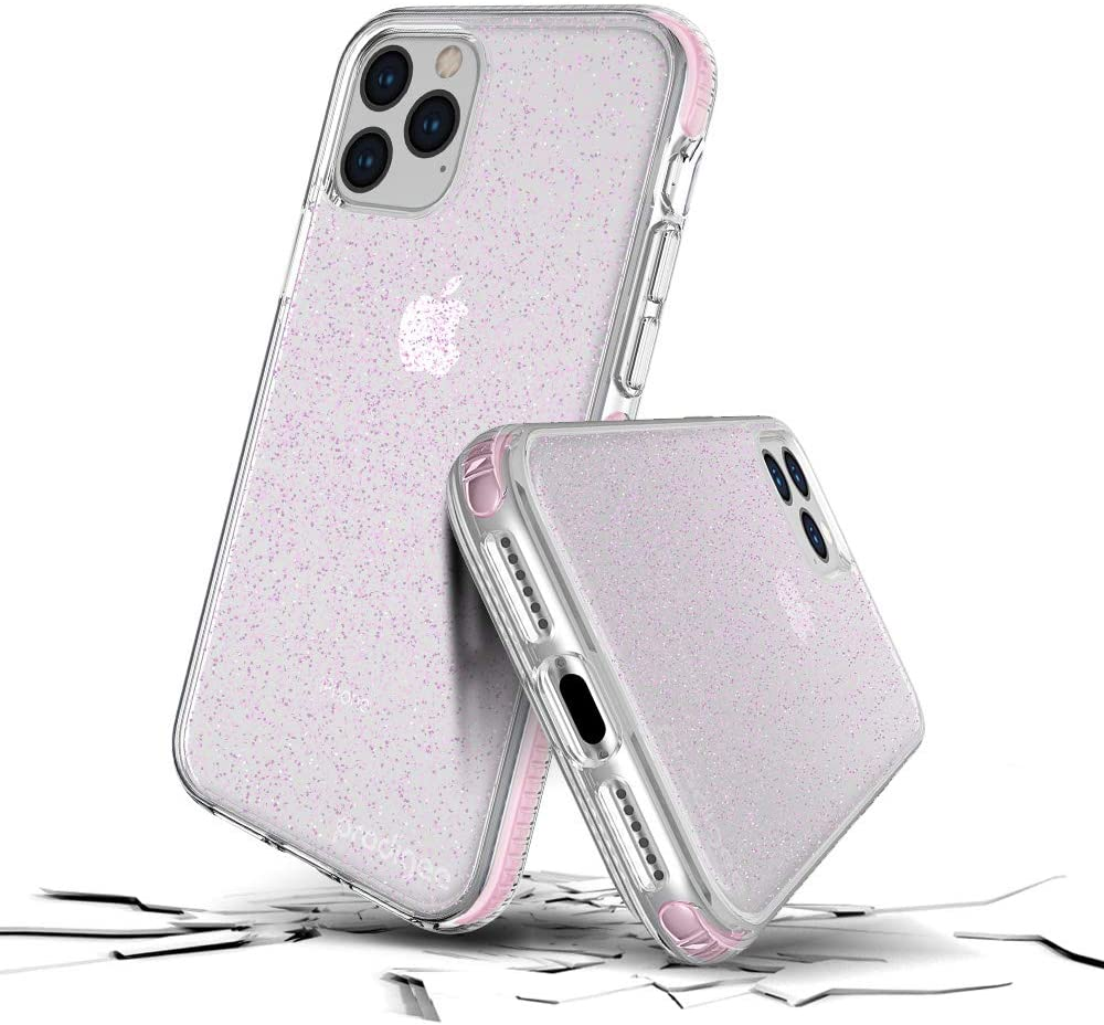 Prodigee Apple iPhone 11 Pro Case - Rose Glitter   Superstar Series   Shockproof   6 ft Drop Tested   Wireless Charging Compatible   Scratch Resistant ...
