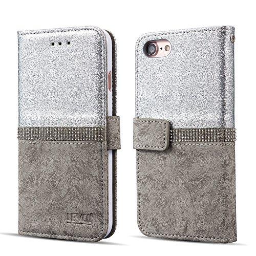 Custodia per iPhone motivo croce di diamanti, Silver, iPhone 6 Plus/6S Plus