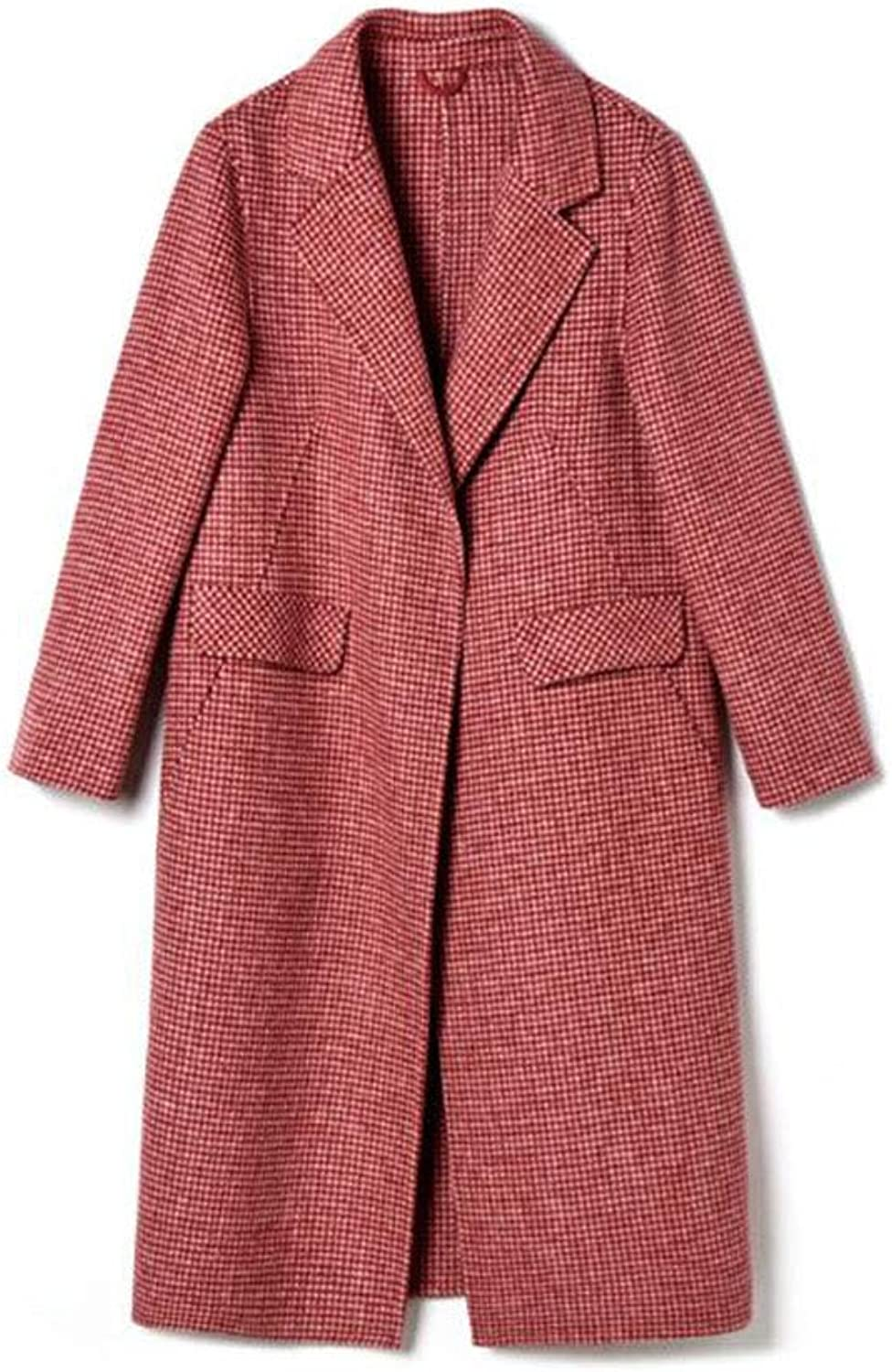 Cashmere Coat Women's Autumn and Winter wear highend Slim Long Wool Coat