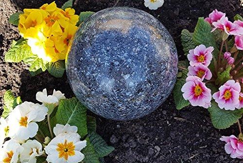 Kugel aus Edelstahl 10 cm Dekokugel Granit anthrazit Dekorationskugel Edelstahlkugel