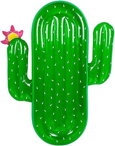 Mmhot Radeau de Flotteur de Cactus Gonflable géant, Radeau de Jouet de Plaisir Aquatique de Tapis Aquatique de Tapis de Piscine de Chaise Longue de Flotteur de Plage pour des Adultes et des Enfants