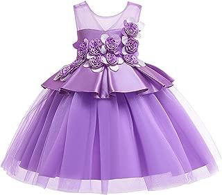 Surprise S Elegant Girls New Lace Puff Princess Dress Baby Wedding Birthday Dress Girls Dance Party Children's Wear
