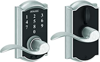 Schlage Touch Camelot Lock with Accent Lever (Satin Chrome) FE695 CAM 626 ACC