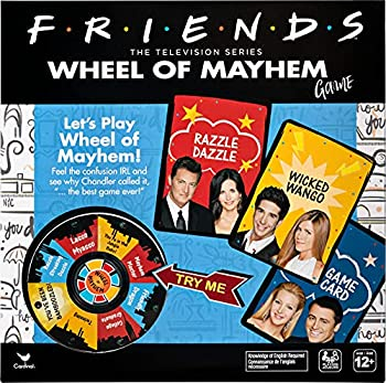 Friends TV Show Wheel of Mayhem Game for Adults and Kids Ages 12 and up