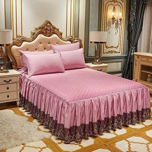 Topashe Weiches Bettlaken,Tagesdecke aus Baumwolllatex, rutschfestes Dickes Bettlakenpulver_150 * 200cm,Sanft Bettlaken