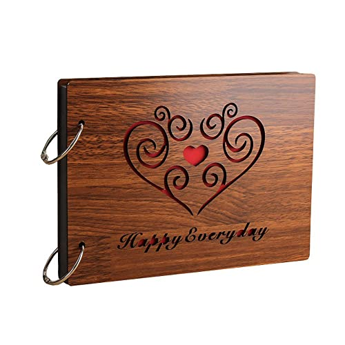 Sehaz Artworks Happy Everyday Wooden Scrapbook Photo Album For Memorable Gift On Boyfriend Girlfriend Birthdays