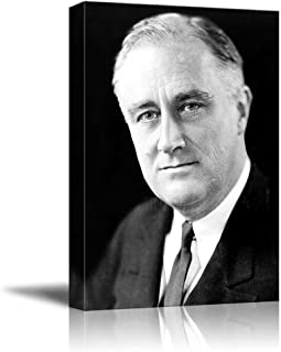 Portrait of President Franklin D. Roosevelt - Inspirational Famous People Series   Giclee Print Canvas Wall Art. Ready to Hang - 24