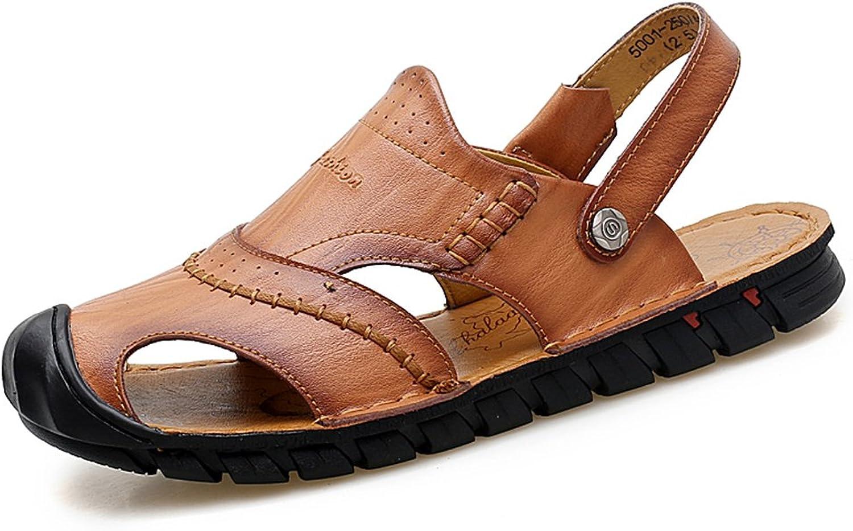 WQX Mans sommar Casual Casual Casual strand Sandaler Closed Toe läder Fisherman Sandals svart  märken online billig försäljning