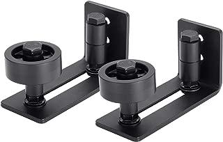 EaseLife Heavy Duty Sturdy Sliding Barn Door Floor Guide,Adjustable Roller,Wall Mount System,Flush Bottom Design,Floor and Door Panel Non-Damage,8 in 1 Install Setup,Fit All Size Door,2 Pack