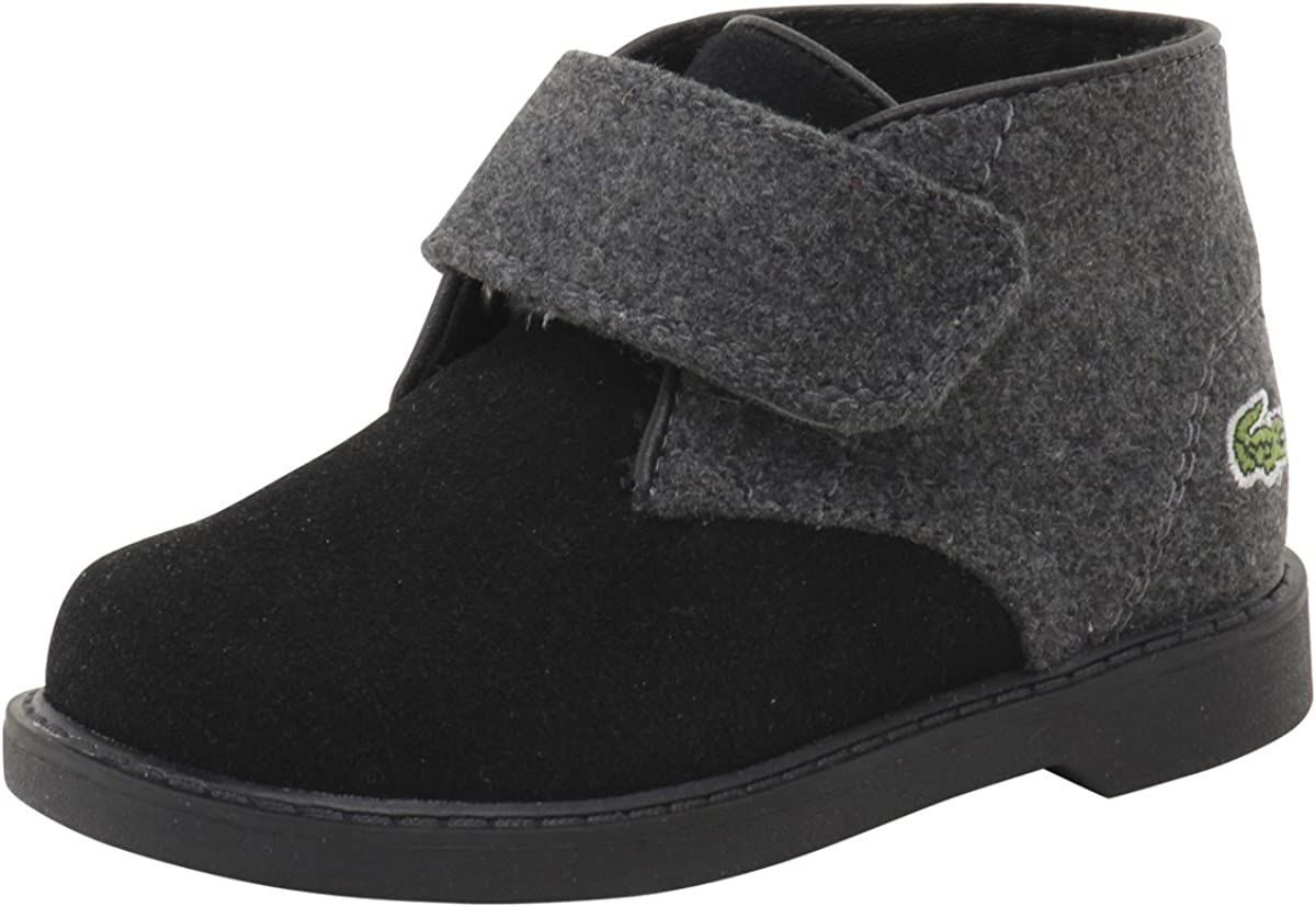 Lacoste Toddler Sherbrook 416 1 Black/Dark Grey Suede Chukka Boots Shoes