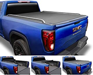 Tyger Auto T2 Low Profile Roll-Up Truck Tonneau Cover TG-BC2C2059 Works with 2014-2019 Chevy Silverado/GMC Sierra 1500 2500 3500 HD | Fleetside 6.5' Bed | Without Utility Track