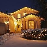 SALCAR 23m 360er LED Lichterkette Niedervolt wasserdichte dekorative Leuchten LED String Licht Wünderschöne Deko für Weihnachten, Hochzeit, Zuhause, Garten, Balkon, Terrasse - Warmweiß - 2