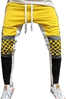 RkBaoye Men Drawstring Closed-Bottom Sport Pants Comfy Pocket Jogger Pant