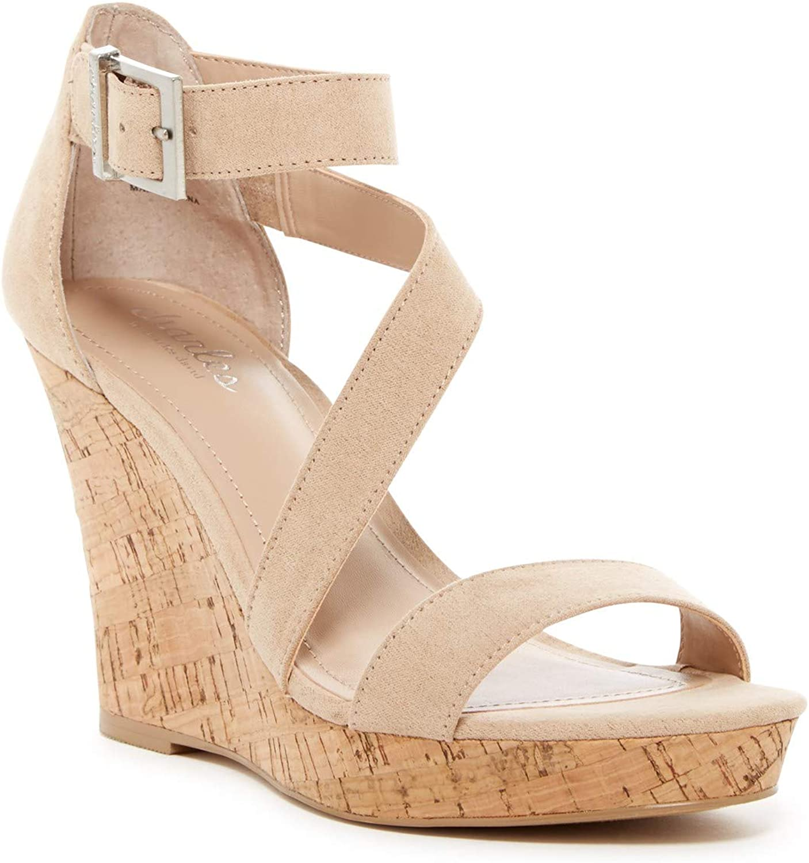 VEGANWomens Wedges Ladies High Heel Cork Wedge Sandals Strappy Tie Shoes Size