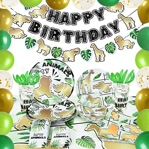 Suministros para Fiestas de Jungle Animales - Selva Fiesta de Cumpleaños Decoracion...