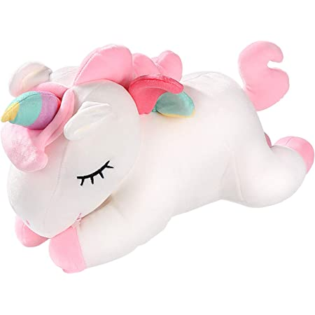 TOYMYTOY ユニコーンぬいぐるみ かわいい 人形 抱き枕 動物 キッズ 玩具 スーパーソフト 女の子 子供 ギフト (40CM)