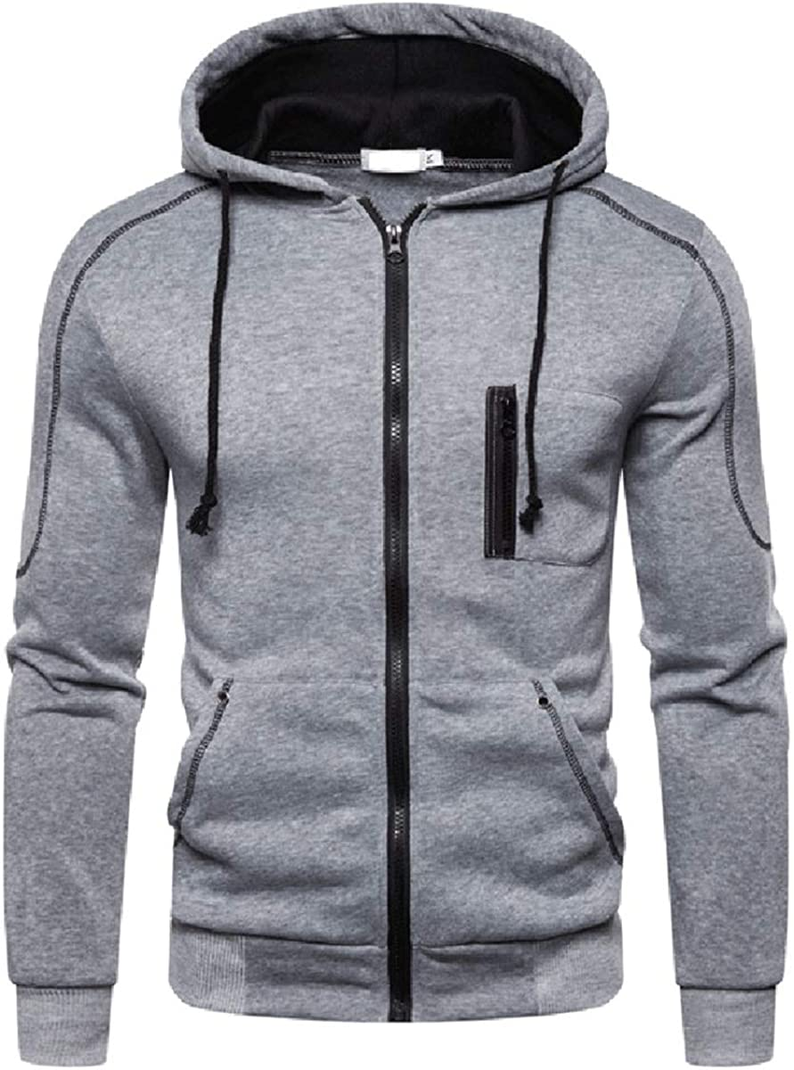 Boyland Men's Zip up Hoodie Max 48% OFF Colorblocked Sweatshir 1 year warranty Casual Hooded