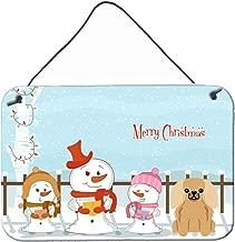 "Caroline's Treasures BB2435DS812 Merry Christmas Carolers Pekingese Fawn Sable Wall or Door Hanging Prints, 8"" x 12"", Multicolor"