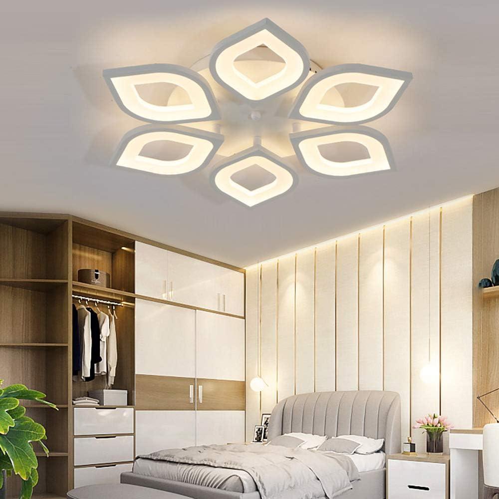 LITFAD 6 Heads Petal Semi Ceiling Flush 訳あり Monochromatic LED メーカー直売 Light